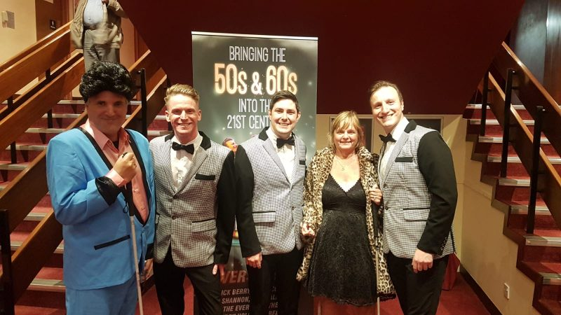JOHN & JULIE WITH THE VINTAGE BOYS AT WESTON-SUPER-MARE PLAYHOUSE