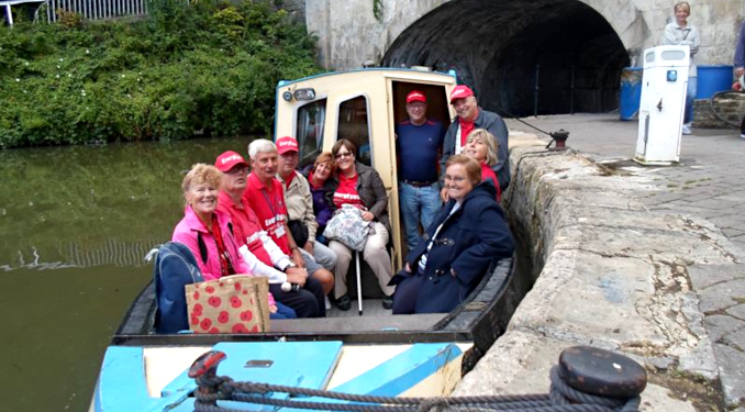 Slideshow: Day Barge Trip at Bath along the Kennet & Avon Canal, August 2014.