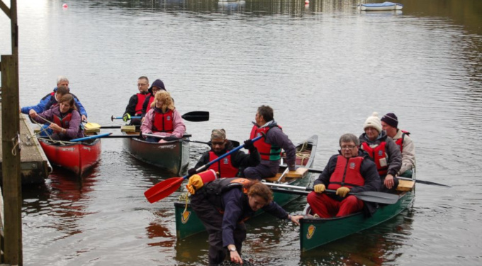 Slideshow: Canoeing on the reservoir, Calvert Trust, October-November 2012