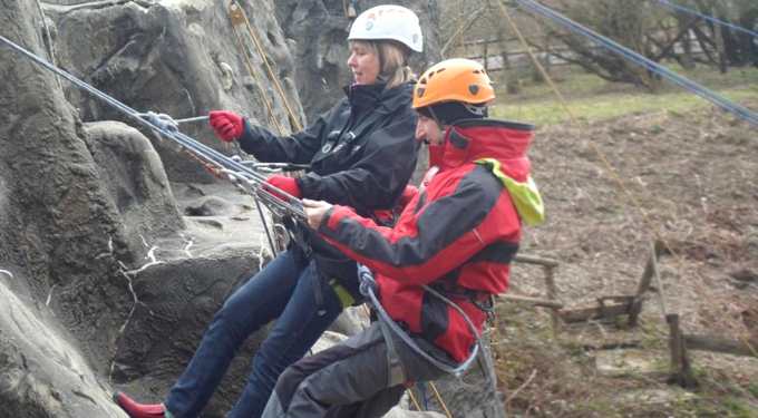 Slideshow: Abseiling, Calvert Trust, April 2015