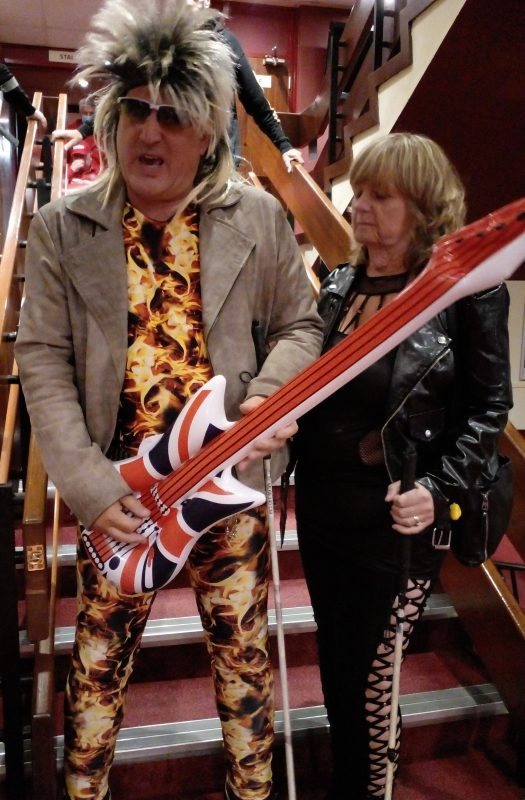 ROCK STAR AND ROCK CHICK, JOHN AND JULIE