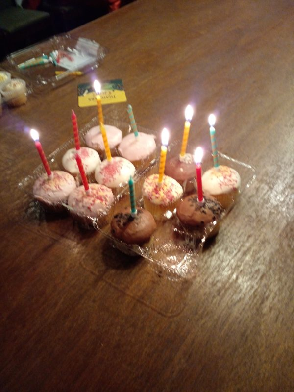 BIRTHDAY CAKES WITH CANDLES CELEBRATING OUR 10TH ANNIVERSARY WHICH WAS 24TH JUNE 2020